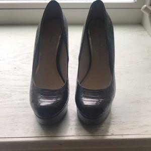 Jessica Simpson black with glitter heels